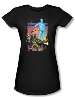 Watchmen Juniors T-shirt Movie Superhero Winning The War Black Shirt