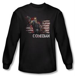Watchmen Long Sleeve T-shirt Movie Superhero Comedian Black Shirt