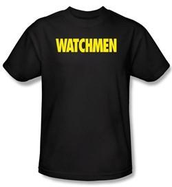 Watchmen T-shirt Movie Superhero Logo Adult Black Tee Shirt