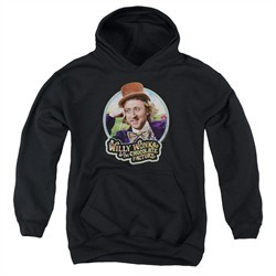 Willy Wonka and The Chocolate Factory  Kids Hoodie Its Scrumdiddlyumptious Black Youth Hoody