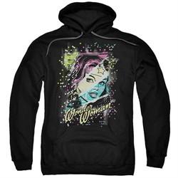 Wonder Woman Hoodie Color Block Black Sweatshirt Hoody