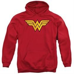 Wonder Woman Hoodie Logo Red Sweatshirt Hoody