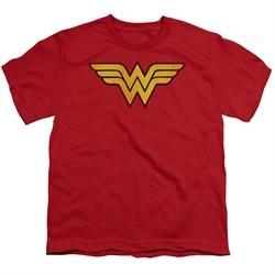 Wonder Woman Kids Shirt Logo Red T-Shirt
