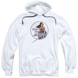 Wonder Woman Movie  Hoodie Fight For Justice White Sweatshirt Hoody