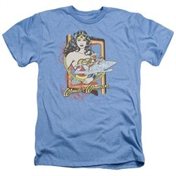 Wonder Woman Shirt Invisible Jet Heather Light Blue T-Shirt