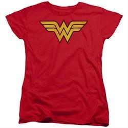 Wonder Woman Womens Shirt Logo Red T-Shirt