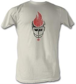 World Football League T-Shirt Chicago Fire Dirty White Tee Shirt