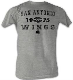 World Football League T-Shirt Chicago Wings 2 Adult Grey Tee Shirt
