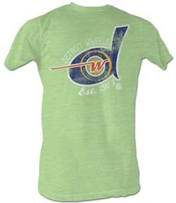 World Football League T-Shirt ? Detroit Wheels 1973 Adult Green Tee