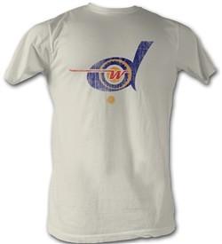 World Football League T-Shirt Detroit Wheels Adult Dirty White Tee