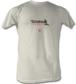 World Football League T-Shirt Jacksonville Express Adult Dirty White