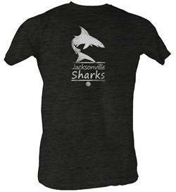 World Football League T-Shirt Jacksonville Sharks Black Tee Shirt
