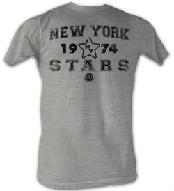 World Football League T-Shirt New York Stars Adult Grey Tee Shirt