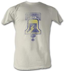 World Football League T-Shirt Philadelphia Bells Adult Dirty White Tee