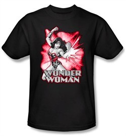 Justice League T-shirt Wonder Woman Red and Gray Tee