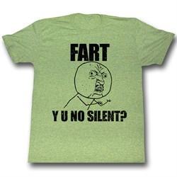 Y U NO Shirt Y U No Silent Adult White Tee T-Shirt