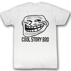 You Mad Shirt Cool Story Bro Adult White Tee T-Shirt