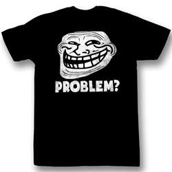 You Mad Shirt U Troll Face Problem Adult Black Tee T-Shirt