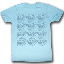You Mad Shirt U Troll Face Repeat Adult Light Blue Tee T-Shirt