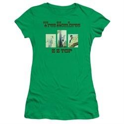 ZZ Top Juniors Shirt Tres Hombres Kelly Green T-Shirt