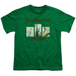 ZZ Top Kids Shirt Tres Hombres Kelly Green T-Shirt