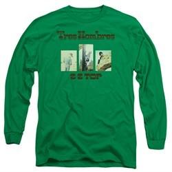 ZZ Top Long Sleeve Shirt Tres Hombres Kelly Green Tee T-Shirt
