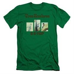 ZZ Top Slim Fit Shirt Tres Hombres Kelly Green T-Shirt