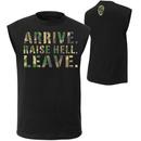 """Stone Cold Steve Austin """"Arrive. Raise Hell. Leave."""" Muscle T-Shirt"""