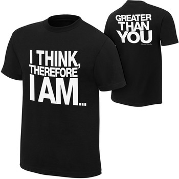 """""""Damien Sandow """"""""I Think Therefore I Am"""""""" Youth Authentic T-Shirt"""""""