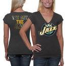 Utah Jazz Women's Turnover V-Neck T-Shirt - Charcoal