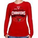 Louisville Cardinals Women's 2013 Sugar Bowl Champions Banners Edge Long Sleeve T-Shirt - Red