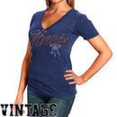 Junk Food Philadelphia 76ers Women's Solid Slim Fit V-Neck T-Shirt - Royal Blue