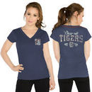 Detroit Tigers Touch by Alyssa Milano Women's Outfield T-Shirt - Navy