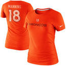 Nike Peyton Manning Denver Broncos Ladies Player Name and Number T-Shirt - Orange