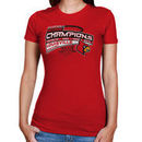 Louisville Cardinals 2013 NCAA Men's Basketball National Champions Women's Three-Time Champs Levo T-Shirt - Red