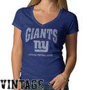 '47 Brand New York Giants Women's Scrum V-Neck T-Shirt - Royal Blue