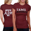 My U Texas A&M Aggies Literality Slim Fit Ladies T-Shirt - Maroon
