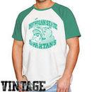 Original Retro Brand Michigan State Spartans Tri-Blend Raglan T-Shirt - White/Green
