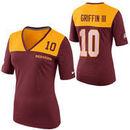Nike Robert Griffin III Washington Redskins Women's My Player Top Tri-Blend V-Neck T-Shirt - Gold/Burgundy