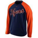 Detroit Tigers Nike Men's Fleece Crew Performance Sweatshirt - Navy