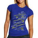 Chase Authentics Ricky Stenhouse, Jr. 2013 Women's Signature T-Shirt - Royal Blue