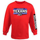 Houston Texans Youth Straight Up Long Sleeve T-Shirt - Red