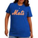 Women's Majestic Royal New York Mets Plus Size Wordmark T-Shirt