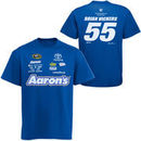 Chase Authentics Brian Vickers Aarons Uniform T-Shirt - Royal Blue