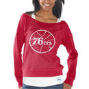 Philadelphia 76ers Womens Holy Long Sleeve T-Shirt and Tank - Red