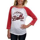 Chicago Bulls Women's Three-Quarter Sleeve Thermal Burnout Raglan T-Shirt - White/Red