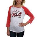 Miami Heat Women's Three-Quarter Sleeve Thermal Raglan T-Shirt - White/Red