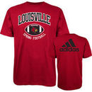 adidas Louisville Cardinals Spring Football Hitch & Go T-Shirt - Red