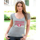 Indiana Hoosiers Women's Vintage V-Neck T-Shirt - Ash