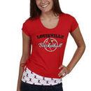 Louisville Cardinals Women's Basketball Glitter T-Shirt - Red